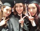 パク・シネ、少女時代スヨン、ユリ、中央大学の卒業式で認証ショット。